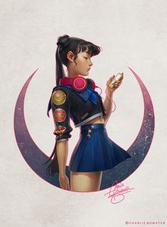 Part of my recent Sailor Moon bender, my own take on an alternate Usagi I had so much fun with this, even if it was a ton of work thanks to a corrupted PSD! Hand signed prints available over...