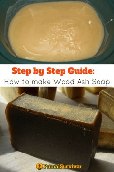 When you start homesteading, you find that there is a use for everything and stop throwing things away. There are even a lot of uses for ash from your wood stove – including making soap. If you want to try this homesteading project, here's detailed instr Savon Soap, Soap Making Supplies, Survival Supplies, Homemade Soap Recipes, Homemade Paint, Homemade Candles, Wood Ash, Soap Molds, Home Made Soap
