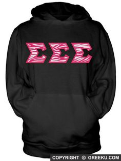 Sigma Sigma Sigma Hooded Sweatshirt with Sewn-On Letters