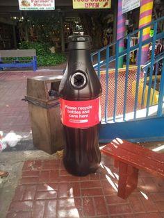 Coca Cola Recycling in Waikiki!