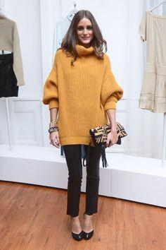 Olivia Palermo overzise knit jumper