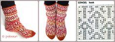 Джурабы: ru_knitting Knitting Videos, Knitting Charts, Knitting Socks, Slipper Socks, Slippers, Fair Isle Pattern, Mitten Gloves, Leg Warmers, Legs
