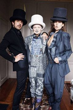 Vivienne Westwood fall 14, with Stella Schnabel and Andreas Kronthaler, shot by Juergen Teller. If you thought Dame Viv was an exhibitionist..