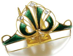 Art Nouveau Tiara, United Kingdom (ca. 1900; made by A & J Smith; mother-of…