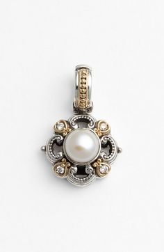 Konstantino 'Hermione' Pearl & Diamond Pendant available at #Nordstrom