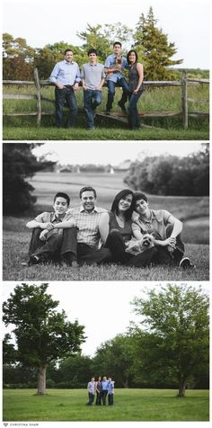 Family Photo Session with Older Kids (Teenagers) Poses to do with older kids/teenage boys www.shawphotoco.com
