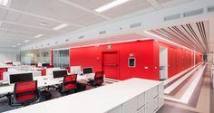 Open space nas instalações da Fujitsu em Milão, Itália