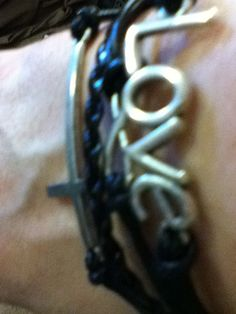 New Style Braided Leather Black Cross Infinity Bracelet with Letters LOVE