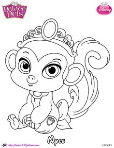 Nyle Princess Palace Pet Coloring Page By SKGaleana