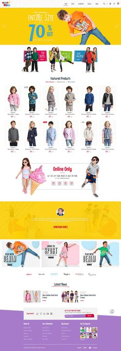 HappyKids – eCommerce PSD Template is a eCommerce website template designed in Photoshop with a modern look comes in 3 stunning homepage style. #kids #psdtemplate