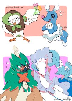 Dartrix and Brionne / Decidueye and Primarina