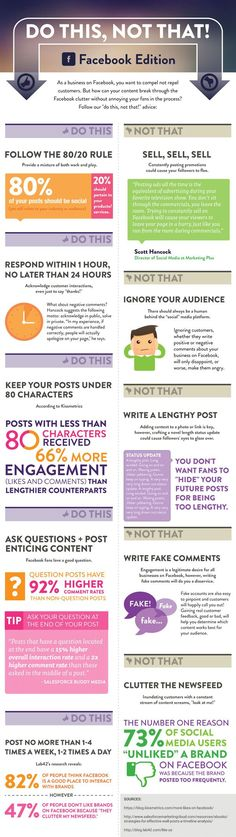 [Infographic] Do This Not That on Facebook | via #BornToBeSocial, Pinterest Marketing | http://borntobesocial.com