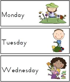 Spring days of the week featured Seasons Themed Days of the Week Cards/Posters - also includes days of the week song, poster and active links to days of the week songs on YouTube PDF file $    This seasons themed classroom organization resource is perfect for the early childhood classroom.