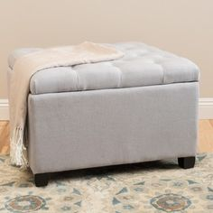 Shop for Kane Tufted Button Storage Ottoman by Christopher Knight Home in Ivory Velvet(As Is Item). Get free delivery On EVERYTHING* Overstock - Your Online As Is Store! Get in rewards with Club O! Tufted Ottoman Coffee Table, Fabric Ottoman, Sleeper Ottoman, White Ottoman, Furniture Deals, Furniture Outlet, Online Furniture, Oversized Ottoman, Upholstery Foam