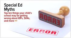 10 myths to bust about ADHD special ed law.