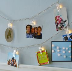 PB Kids Clothespin and Boa Light Strings Christmas Card Holder Idea