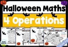 This is a great independent maths activity for students to do during Halloween. It will brighten up your class and develop mental maths skills at the same time! The multiplication and division worksheets will challenge your students, whilst the addition and subtraction are great differentiation. This is one your class will love! Multiplication And Division Worksheets, Kids Math Worksheets, Math Activities, Teaching Math, Teaching Resources, Mental Maths, Halloween Math, Student Engagement, Math Skills