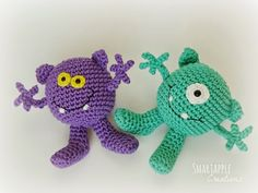 Smartapple Creations - amigurumi and crochet: Little amigurumi monsters