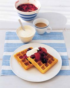 recipe: cornmeal waffles egg whites [4]