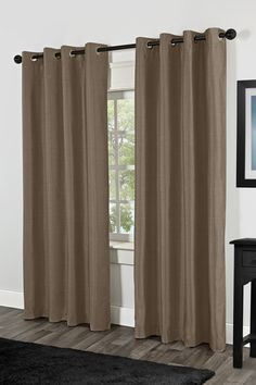 Amalgamated Textiles USA Shantung Faux Silk Thermal Grommet Top Window Curtain Panels & Reviews | Wayfair