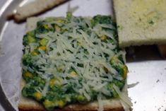 Spinach corn sandwich recipe with step by step photos. learn how to make grilled corn and spinach sandwich with cheese with this easy recipe Corn Sandwich, Sandwich Recipes, Baby Corn Recipes, Cafe Coffee Day, Healthy Sandwiches, Spinach, Food To Make, Grilling, Easy Meals