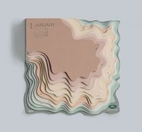 Topographic Calendar by Zeynep Orbay for Land Rover — Designspiration