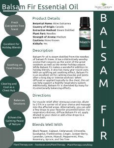 Balsam Fir Product Sheet Template