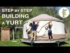 How a Yurt is Made - Behind the Scenes Assembling a 4-Season Yurt - YouTube