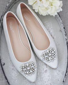 Lace Wedding Flats, Lace Up Flats, Ivory Wedding, Pointy Toe Flats, Peep Toe Heels, Bridesmaid Shoes, Bridesmaids, Ivory Shoes, Glitter Flats