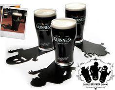 Guinness Halloween Shadow Coasters