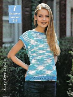 Looking for your next project? You're going to love Summer Sunset (Size:Med.-2X) by designer SassyLoveCroche.