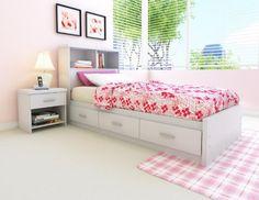 Sonax H-011-LWB Willow Single Bookcase Headboard - http://www.furniturendecor.com/sonax-h-011-lwb-willow-single-bookcase-headboard-frost/