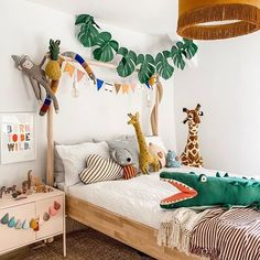 Animal Safari interior decor ideas with Ikea storage. Scandi kids room ideas wit… Animal Safari interior decor ideas with Ikea storage. Scandi kids room ideas with leopard and crocodile art. Jungle th Bedding Master Bedroom, Baby Bedroom, Girls Bedroom, Bedroom Art, Animal Bedroom, Kids Bedroom Lights, Room Girls, Boys Bedroom Decor, Ikea Bedroom