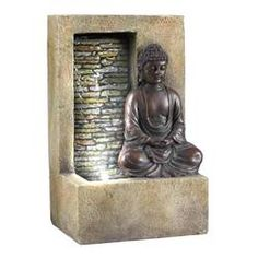 ORE International Resin Tabletop Indoor Fountain at Lowe's. This features a lovely Buddha indoor table fountain. The cherry-colored Buddha is resting on the base of the fountain, And the fountain also features a Diy Garden Fountains, Indoor Water Fountains, Indoor Fountain, Fountain House, Wall Fountains, Outdoor Fountains, Home Depot, Desktop Water Fountain, Buddha Home Decor