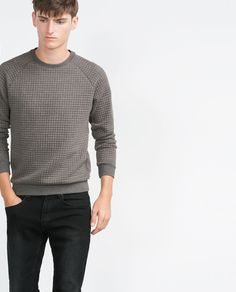 ZARA - MAN - QUILTED SWEATSHIRT