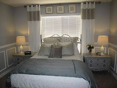 Trendy Bedroom Curtains Behind Bed Window Headboard Ideas Window Behind Bed, Window Headboard, Curtains Behind Bed, Window Bed, Headboard Ideas, High Curtains, Ceiling Curtains, Diy Headboards, Window Curtains