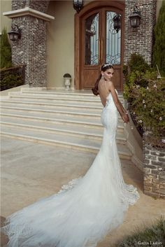 chiffon wedding gown