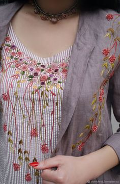 """Charming embroidery kit - a sundress and a shirt """"Berry summer"""" – shop online on Livemaster with shipping - FYA3LCOM 