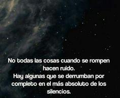 En el mas absoluto silencio