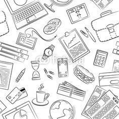 Vector: Business doodle pattern