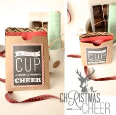 Ruffled Sunshine: Have a cup of cheer. Printable Christmas gift DIY
