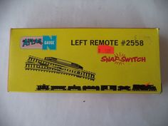 VINTAGE ATLAS N GAUGE LEFT REMOTE SNAP-SWITCH #2558 USA #Atlas