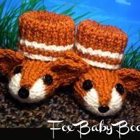Fox Baby Booties - via @Craftsy