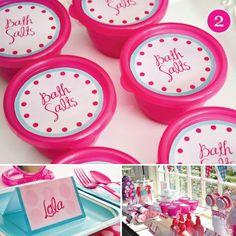 pink girls spa birthday party