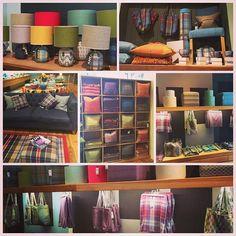 Wandering along George Street Edinburgh and came across this shop - Anta. All things tartan!! #tartan #interiors