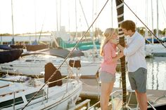 Photo Fridays | A Fun Boat Engagement