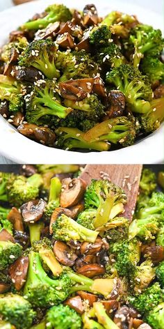 This Broccoli and Mushroom Stir-fry is the perfect vegan meal when you want to make something quick and delicious. It only takes a few minutes to prepare and cook the ingredients, and it's packed with Vegetable Side Dishes, Vegetable Recipes, Mushroom Stir Fry, Chicken Pasta Recipes, Mushroom Recipes, Mushroom Meals, Mushroom Salad, Salmon Recipes, Plant Based Recipes