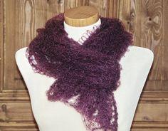 Weiteres - Zarter Lace Schal aus Mohair/Seide Handstrick - ein Designerstück von HansensGasse bei DaWanda