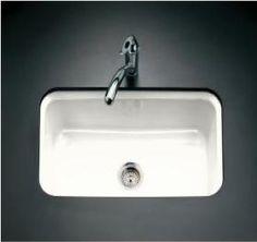 Kohler's Bakersfield White Cast-Iron Sink: Remodelista