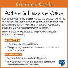 Do you know the difference between active and passive voice?